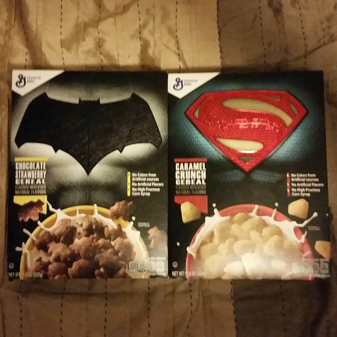 Superman, Batman, Cereal Boxes